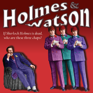 Holmes and Watson at Chagrin Valley Little Theatre...